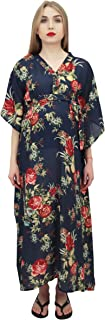 Bimba Moms Floral Printed Kaftan- with Belt Maternity Maxi Dress