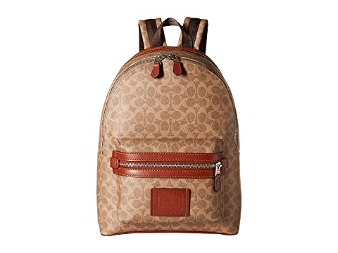 22a75f1b1e COACH Academy Backpack in Signature Coated Canvas at Zappos.com