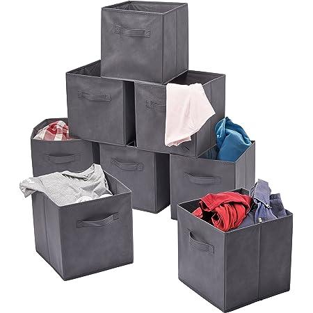 Matana 8 Boîtes Organisation de Rangement de Cube Pliables - 27,5x27,5x28CM