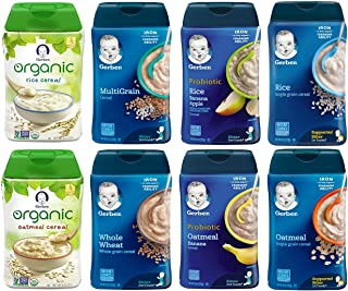 Gerber Baby Cereal Variety Pack, 8 Ounce (Bundle of 8)
