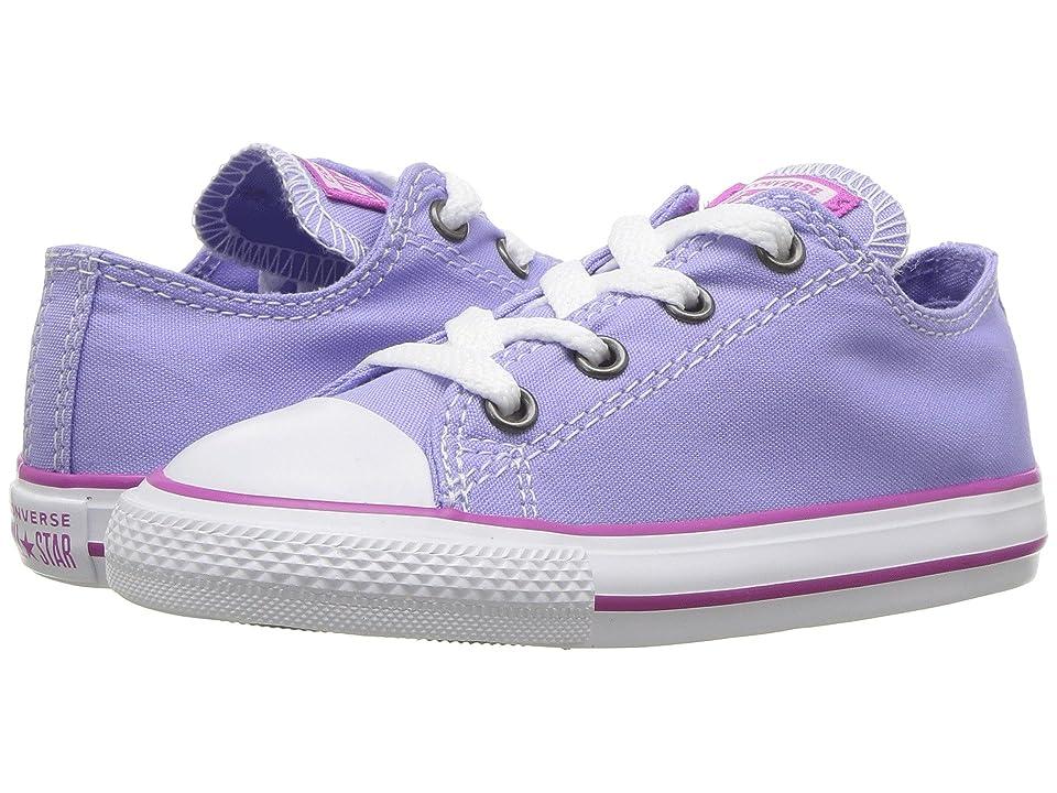 Converse Kids Chuck Taylor(r) All Star(r) Seasonal Ox (Infant/Toddler) (Twilight Pulse/Hyper Magenta/White) Girl