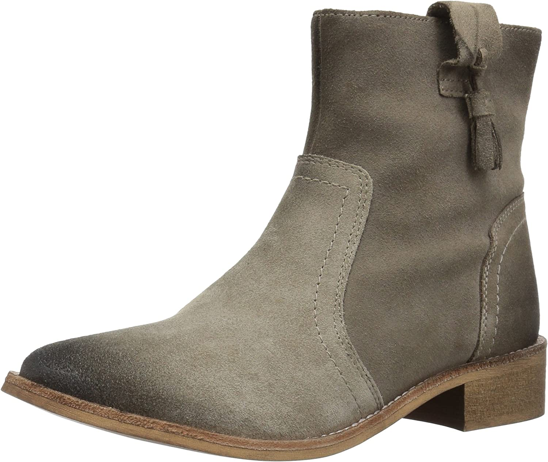 A-BUYBEA Women's Square Toe Fashion Chunky Mid Heel Genuine Leather Dress Pump shoes