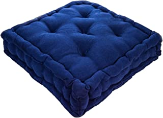 Nicola Spring Dining Chair Cushion Seat Pad Square Padded French Mattress - Blue