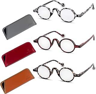 Reading Glasses For Women & Men (3-Pack) Retro Round Frame Fashion Readers