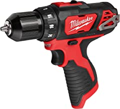 Milwaukee M12 12V 3/8-Inch Drill Driver (2407-20) (Bare Tool Only – Battery,..