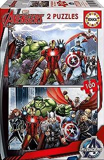 Educa - 15771 - Puzzle Classique - Avengers - 2 X 100 Pièces