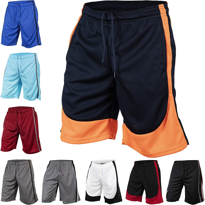 3-6 Packs Men's Mesh 2-Tone Basketball Sacramento Mall with Gym A Shorts Pockets SALENEW very popular!