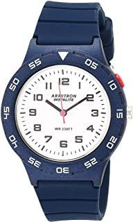 Armitron Sport Women's Quartz Sport Watch with Silicone Strap, Blue, 18 (Model: 25/6443NVY)
