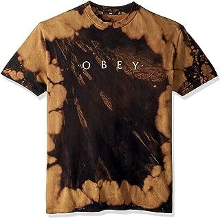Obey Men's Novel Basic Bleach Tie Dye Tee