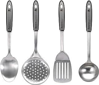 Bergner Gravity Set de Accesorios de Cocina, Acero Inoxidable, Cromado Mate, 35x7x7 cm, 4 Unidades