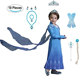 Yalla Baby Girls Dress Costume for Kids Girls Princess Dress Up 90-150CM Birthday Party Cosplay Outfits w/Tiara, Wand, Fau...