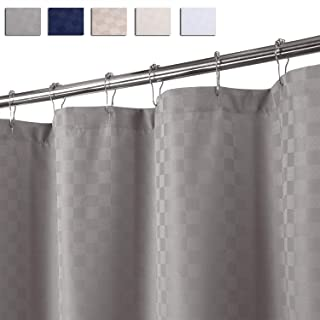 CAROMIO Extra Long Shower Curtain 84 Inches Length, Hotel Luxury 190GSM Heavy Weight Fabric Shower Curtain for Bathroom Washable, Grey, 72x84 Inches