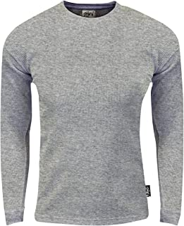 Shaka Wear Men's Thermal Long Sleeve Crewneck Waffle Shirt XS-5XL