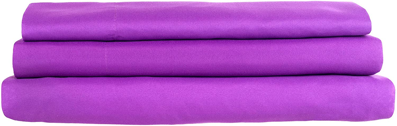 Lavish Home Brushed Microfiber Purple Bed Sheet