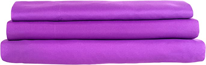 Lavish Home Series 1200 3-Piece Somerset Homelet Set, Twin, Purple