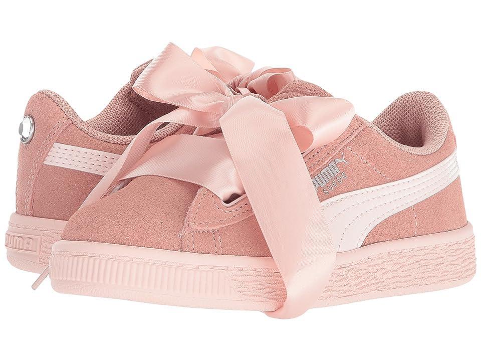 Puma Kids Suede Heart Jewel (Little Kid) (Peach Beige/Pearl) Girls Shoes