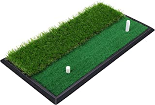 SkyLife Golf Practice Mat with Heavy Rubber Base for Driving Hitting Chipping Putting, Realistic Fairway & Rough Turf, Rubber Tee Holder & 2 3/4'' Plastic Tees Included