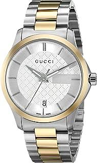 Gucci Swiss Quartz Stainless Steel Dress Two Tone Men's Watch(Model: YA126450)
