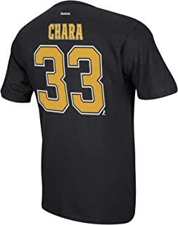 Reebok Men's Boston Bruins Chara #33 Premier Tee Black