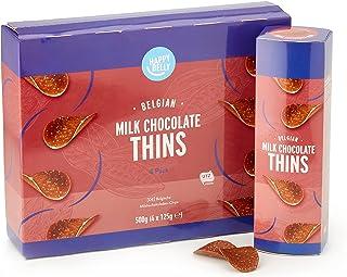 Amazon merk - Happy Belly - Belgische melkchocoladechips 4 x 125 g
