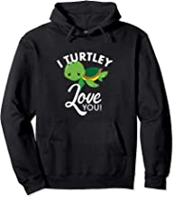 Cute Valentines Turtle I Turtley Love You Valentine Novelty Pullover Hoodie