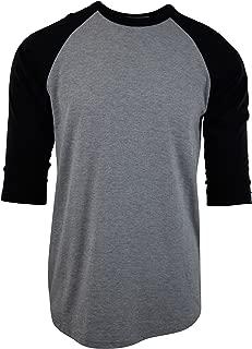 Mens Raglan 3/4 Sleeve Baseball T Shirts