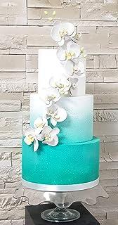 FoamArt - Luxury Cake - TORTA SCENOGRAFICA con Orchidee Compleanno Matrimonio Laurea Anniversario - Personalizzabile