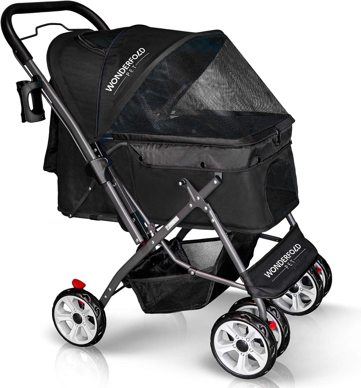 WONDERFOLD Brand Cheap Sale Venue P1 Folding Pet Stroller Wagon Genuine Wheels Cats 4 Dogs for