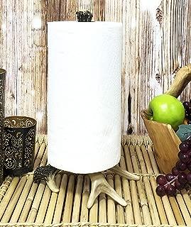 Ebros Rustic Nature Wildlife Woodland Forest Animal Paper Towel Holder Display Dispenser Stand Kitchen Bathroom Home Decor Party Hosting Accent (Stag Deer Antler Bone)