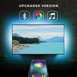 LED Strip Lights, Nexillumi 6.5ft USB TV led Backlight, APP Control Sync to Music, Bias Lighting, Flexible Color Changing RGB 5050 Waterproof LED Strips for 24