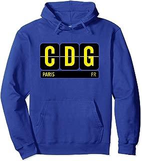 CDG Paris France Travel Souvenir Yellow Pullover Hoodie