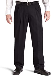 Men's Big & Tall Stain Resistant Relaxed Fit Pleated Pant