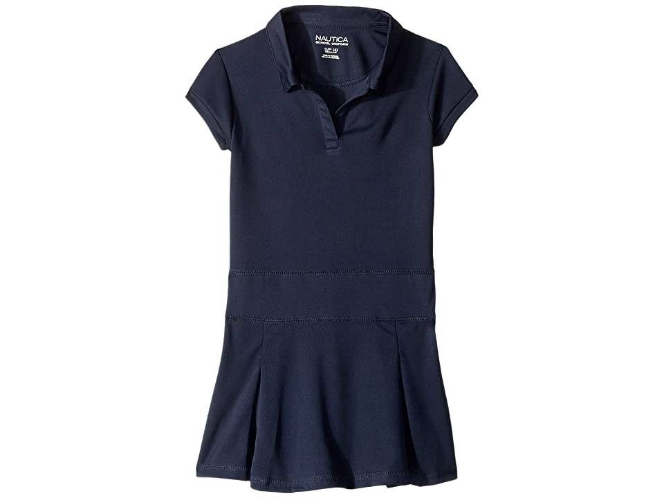 Nautica Kids Pleated Performance Dress (Little Kids) (Navy) Girl