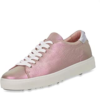 MARC CAIN Mid Top Schuhe Turnschuhe mit Reißverschluss an der Ferse Schwarz//Weiß