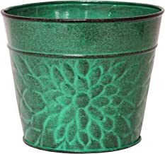 Robert Allen MPT02004 Laurel Series Metal Planter Flower Pots, 6