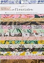 Maggie Holmes Flourish Patterned 24 Sheet 6 x 8 Card Making Paper Pad
