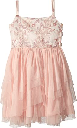 Us Angels - 3D Flower Bodice Tutu Dress (Big Kids)