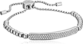 Michael Kors Plaque Adjustable Beaded Bangle Bracelet