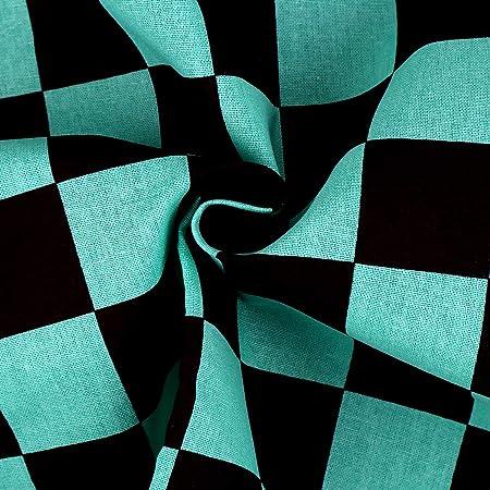 CINECE 和柄 布 生地 巾約150cm×1m切売カット コットン100% 手作り プレゼント コスプレ (市松模様)