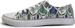 Rivir Latest & Stylish Printed Canvas Sneakers Shoes for Men & Women (Men-UK 7) White