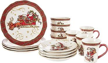 Certified International 89043RM Vintage Santa Dinnerware,Dishware, Multicolored