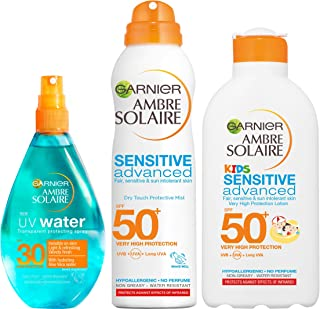 Ambre Solaire Sun Cream for Kids and Adults SPF30 and SPF50, 3-Piece