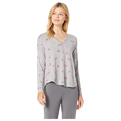 Hatley Henley Lounge Top (Grey) Women