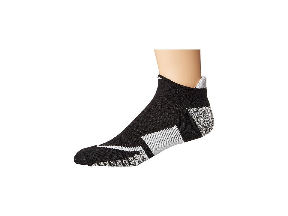 Nike NIKEGRIP Elite No Show Tennis Socks (Black/White/White) No Show Socks Shoes