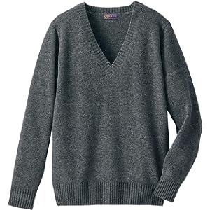 [キューポップ] 毛80% Vネックニットセーター(スクール・制服・学生服) TB-2033 キッズ チャコールグレー 日本 M (日本サイズM相当)