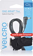 VELCRO Brand ONE-WRAP Ties - Cable Management, Wires & Cords - Self Gripping Cable Ties, Reusable - 3 Ct, Small, Medium an...