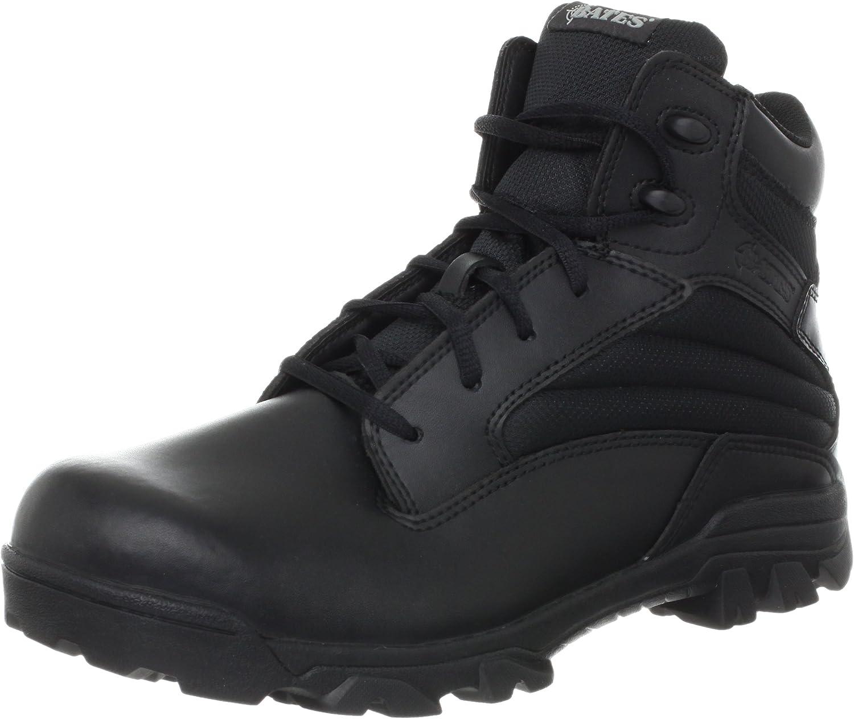 Bates Men's Max 76% OFF ZR-6 BLK 6 New item Leather Boot Uniform Inch Nylon