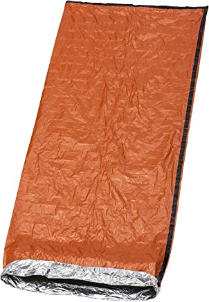 WXJ13 2 Packs Emergency Sleeping Bag Portable Bivy Sack for Outdoor Hiking Camping Lightweight Waterproof Thermal Survival Sleeping Bag