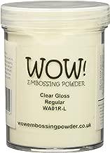 Wow Embossing Powder Large Jar 160ml-Clear Gloss Regular