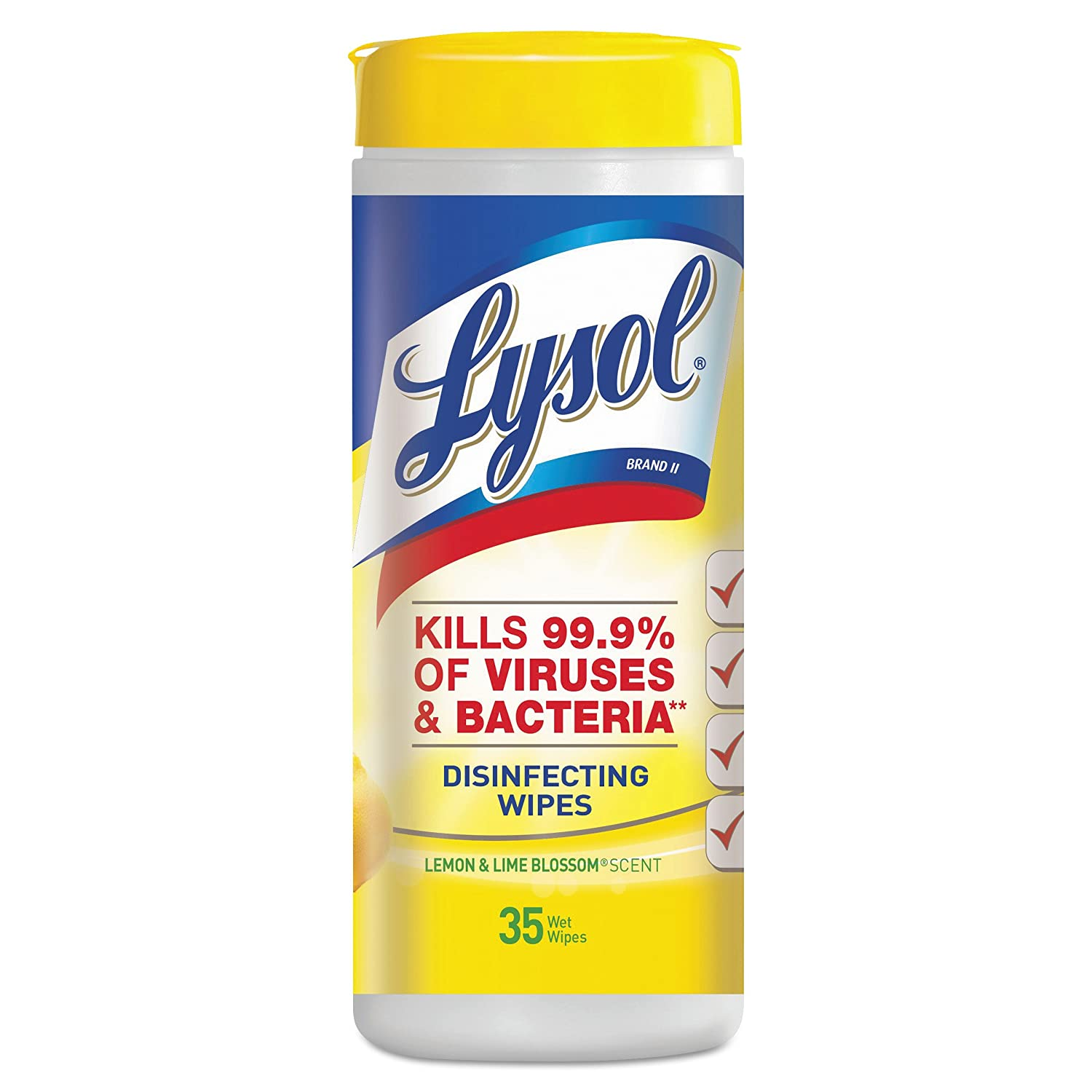 LYSOL Brand OFFicial store Recommended 19200-81145 Lemon and Blossom Wipe Lime Disinfecting